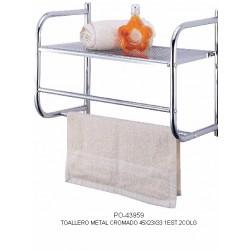 Mobile scaffale da bagno a ripiani con portasciugamani - Mobile con ripiani ...