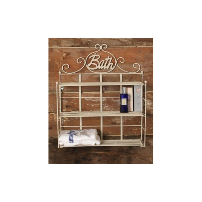 Scaffale libreria a muro per bagno cucina mensola a - Scaffale per cucina ...