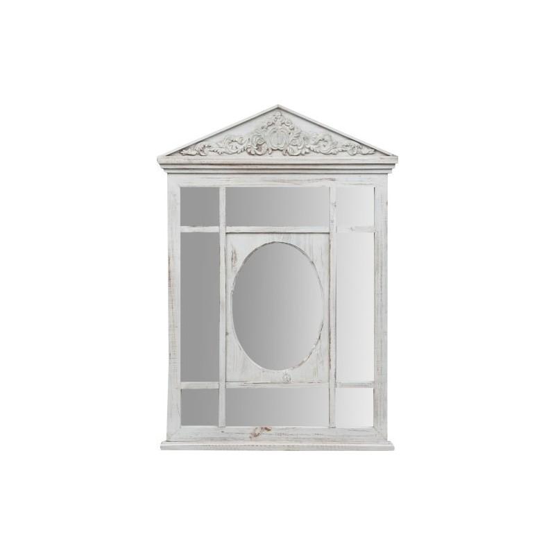 Specchiera in legno con specchio ovale per camera letto bagno ingresso - Specchio ovale per bagno ...