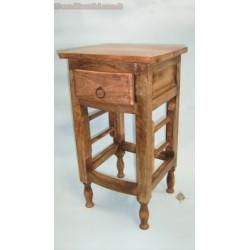 Comodino Tavolino in legno con cassetto