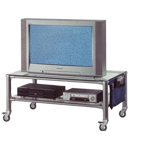 CARRELLO PORTA TV HI FI IN METALLO SILVER - IlBottegone.biz