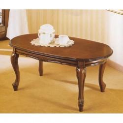 tavolo da salotto classico in legno ovale - IlBottegone.biz