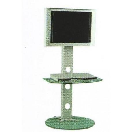 COLONNA PORTA TV LCD DA SALOTTO IN METALLO VETRO - IlBottegone.biz