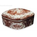 PORTAGIOIE COFANETTO IN CERAMICA DECORATO CON COPERCHIO SOPRAMMOBILE REGALO