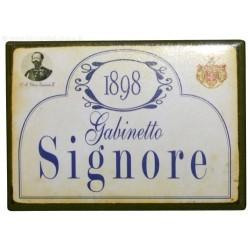 Targa Calamita in latta frasi simpatiche e detti originali Italiani magnete