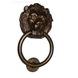 Battiporta Campanello Antico in bronzo portoni d'epoca suoneria rurale leone