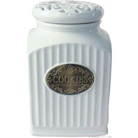 contenitore cucina in ceramica barattolo con coperchio COOKIES