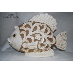Soprammobile in ceramica pesce