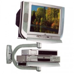 SUPPORTO PORTA TV VCR DVD A MURO ORIENTABILE
