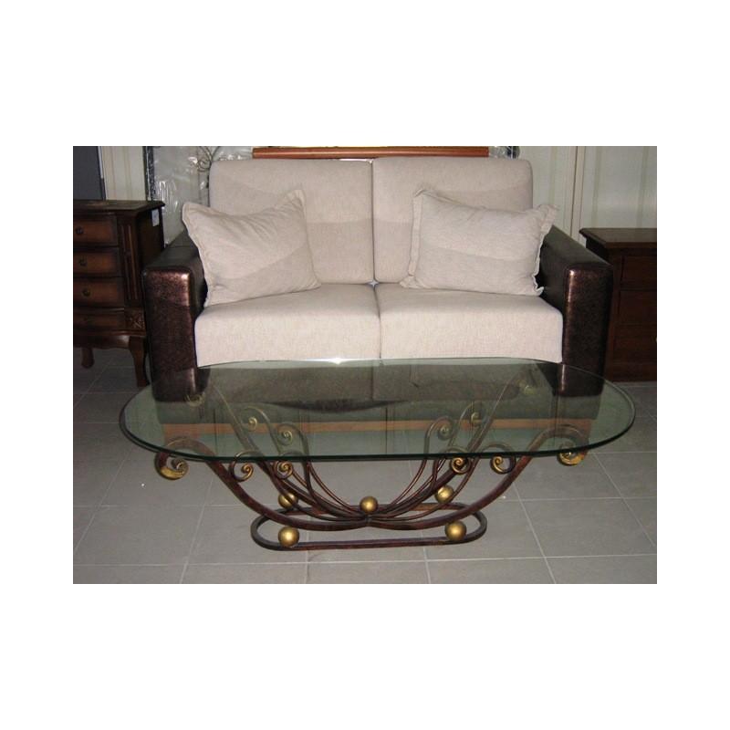 Tavolino Salotto in ferro battuto pieno divano classico ...