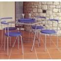 sedia cucina sala metallo e abs