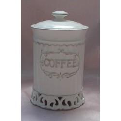 Barattolo ceramica caffe' contenitore cucina decorato