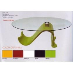 tavolino salotto divano piano vetro struttura design moderno resina colorata