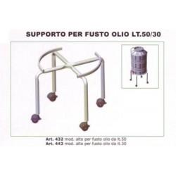 Supporto fusto olio   50 LT