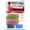 Passatoia Stuoia Tappeto per cucina lavello Bagno cm 135 mosaico multicolore