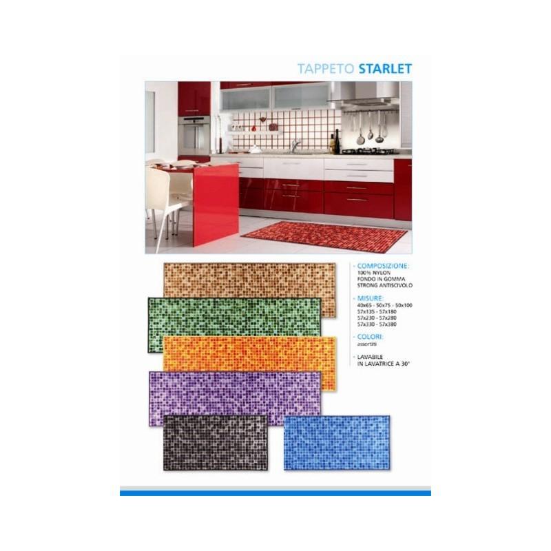 Passatoia Stuoia Tappeto per cucina lavello Bagno cm 135 mosaico ...