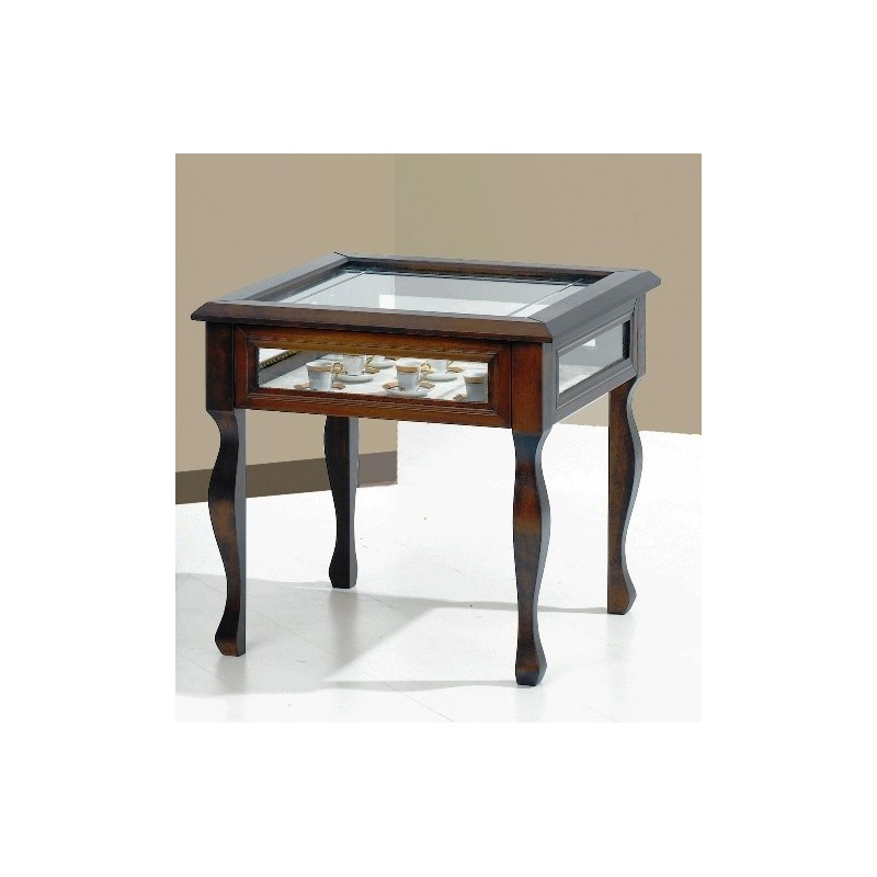 Tavolino da salotto a bacheca in legno arte povera for Tavolino salotto legno