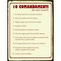 targa pannello in latta insegna a muro i 10 comandamenti dei nati stanchi