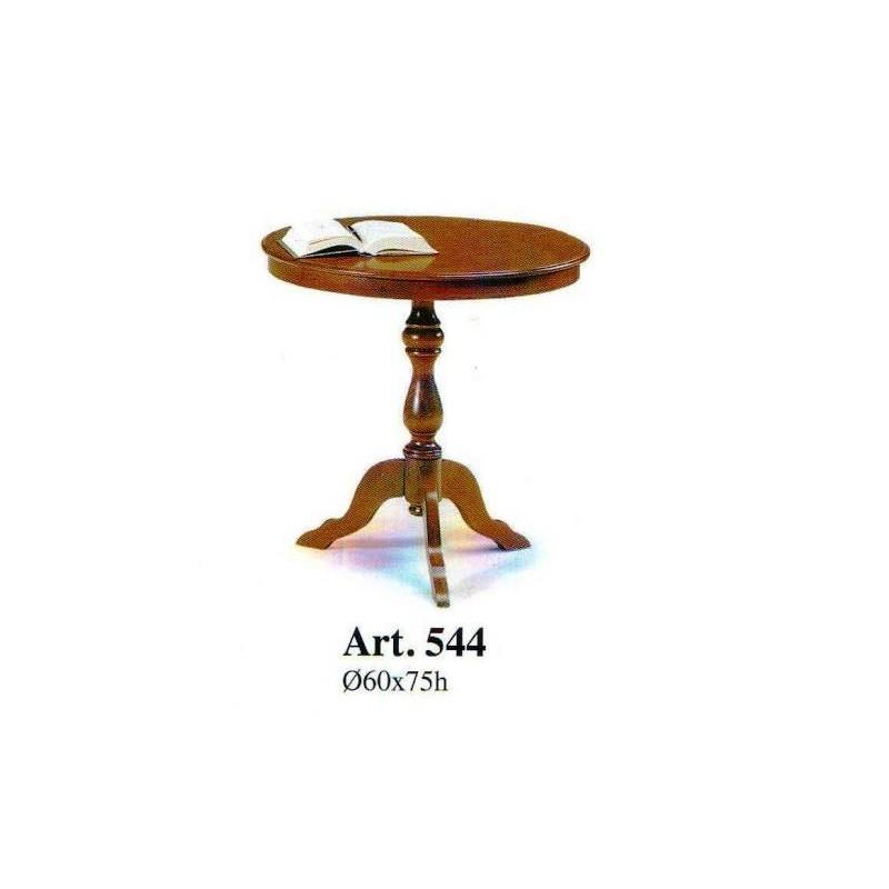 Tavolino tondo alto da camera soggiorno in legno arte - Tavolini da camera ...