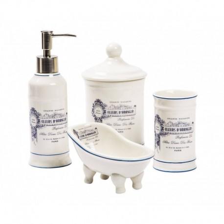 Accessori bagno set in ceramica completo bagno padronale accessori toilette - Accessori bagno in ceramica ...