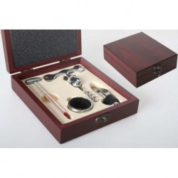 SET VINO ACCESSORI SOMMELIER BARMAN COCKTAIL APRIBOTTIGLIA SCATOLA REGALO