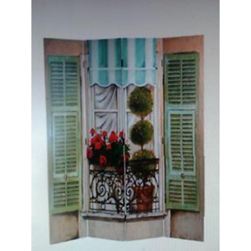 Paravento separe 39 divisorio in legno bifacciale effetto - Separe in legno ikea ...