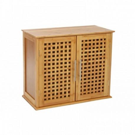 mobile bagno multiuso in legno massello 2 ante e ripiano interno armadietto