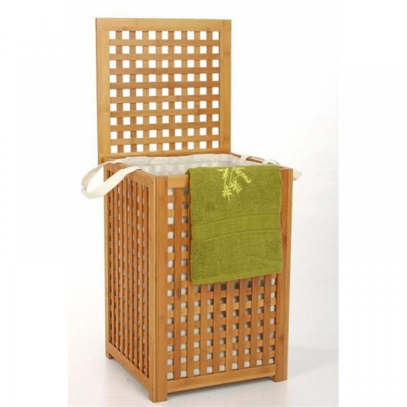 panca contenitore biancheria bagno lavanderia in legno portabiancheria. Black Bedroom Furniture Sets. Home Design Ideas