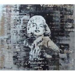 Marilyn Monroe olio su tela