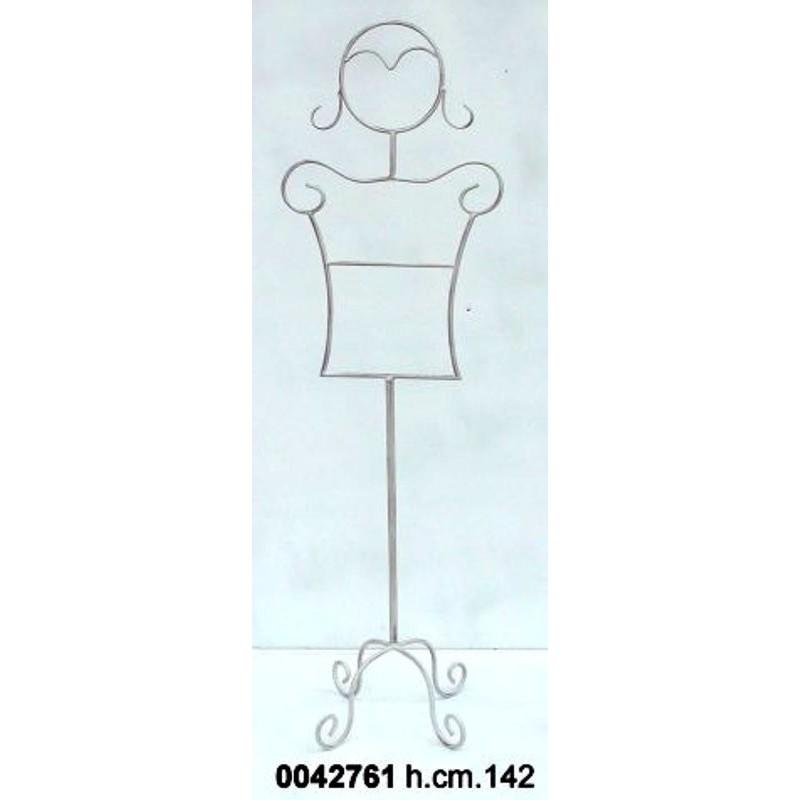 Indossatore manichino donna da camera letto in ferro battuto avorio - Attaccapanni camera da letto ...