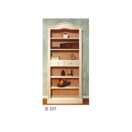 Libreria classica a cupola in legno grezzo con cassetti ...