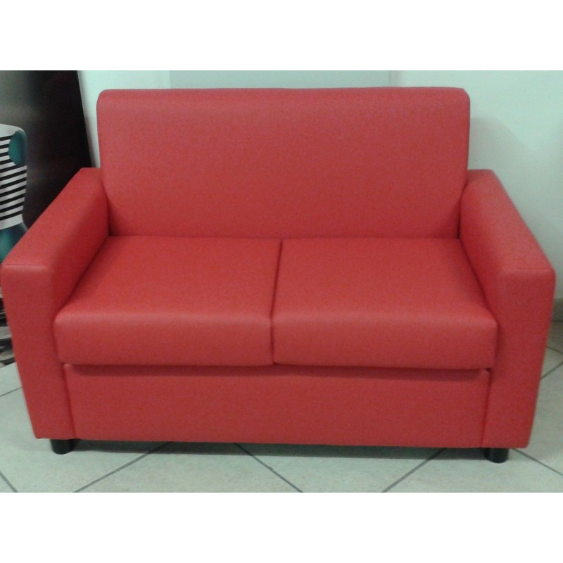 Divano 2 posti ecopelle sofa 39 poltrona relax divanetto cucina cameretta - Divano ecopelle 2 posti ...