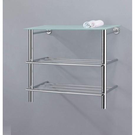 Mensola scaffale pensile per bagno in metallo ripiano - Mensola acciaio bagno ...