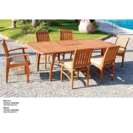 Tavolo in legno per terrazzi e giardini Allungabile - IlBottegone.biz
