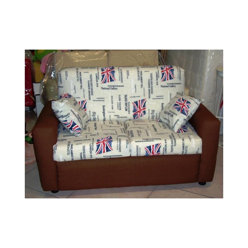 Divano sofa 39 2 posti divanetto imbottito poltrona relax soggiorno cucina cameretta - Divano 2 posti relax ...