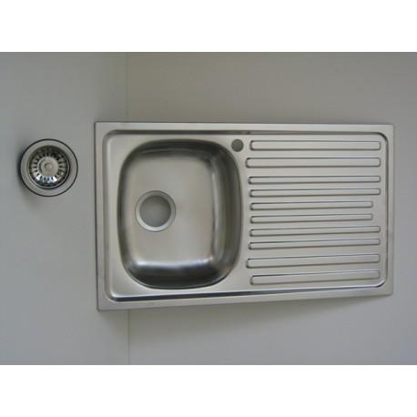 Lavello per cucina inox incasso 1 vascchetta - IlBottegone.biz