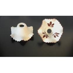 tazzine bicchiere coppa CERAMICA ricambio sostituzione rinnovo lampadario set 3 pezzi