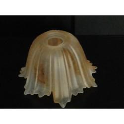 coppetta in vetro per lampadario  tazzina classica per sostituzione o rinnovo set 3 pz