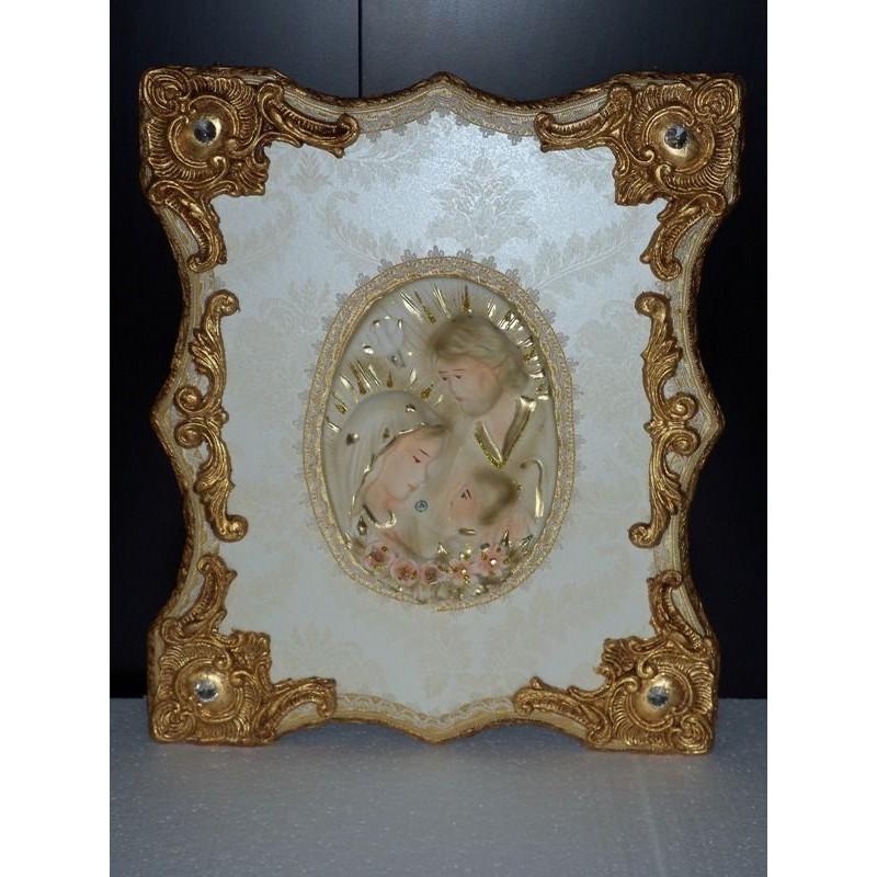 Capoletto quadro sacra famiglia quadro da camera letto cornice classica - Quadro camera letto ...