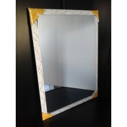 SPECCHIO A PARETE SPECCHIERA MODERNA bianco oro per bagno camera 50 x 70
