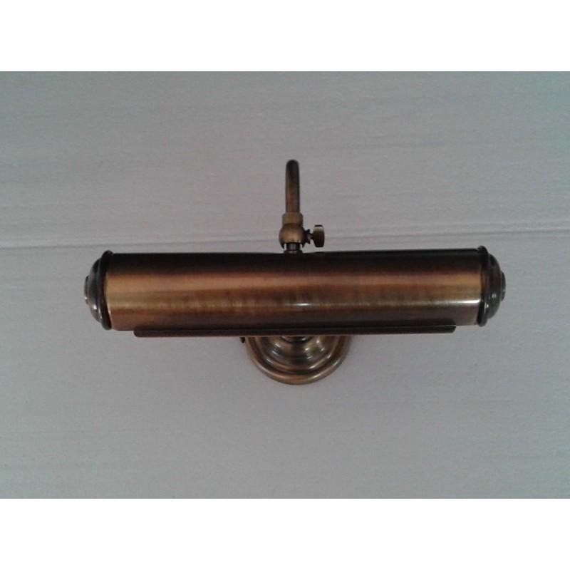 Applique quadro classico bronzo cm 32 lampada bagno a muro per specchio lavabo - Applique per specchio bagno classico ...
