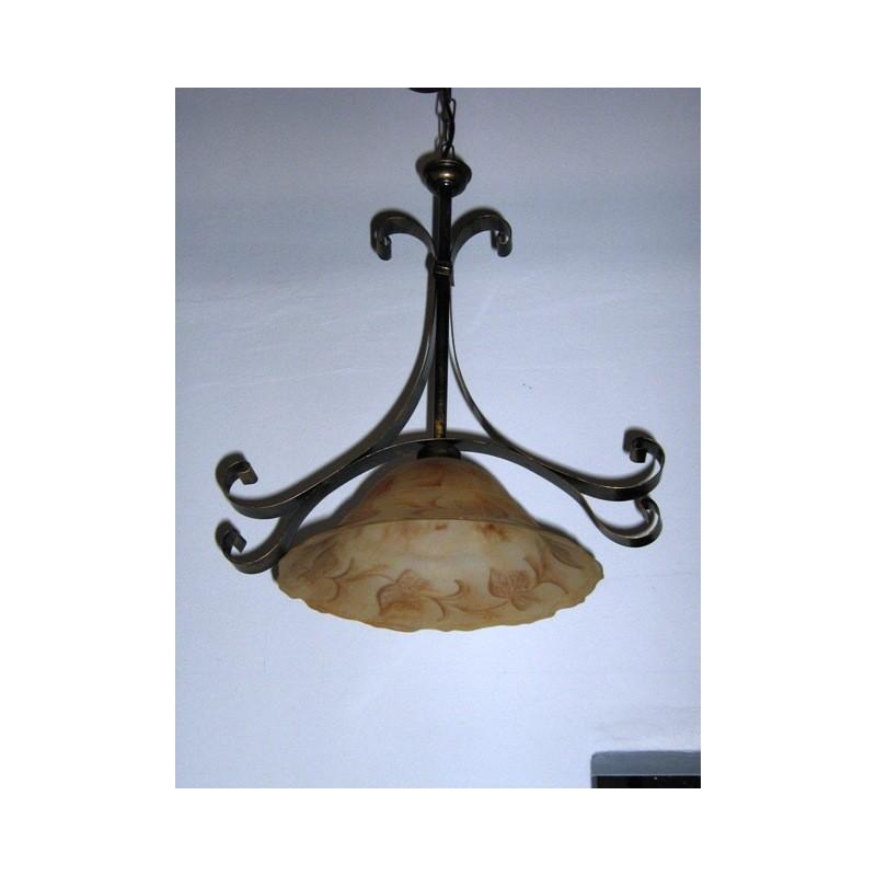 Sospensione lampadario in ferro battuto camera cucina. \u003e