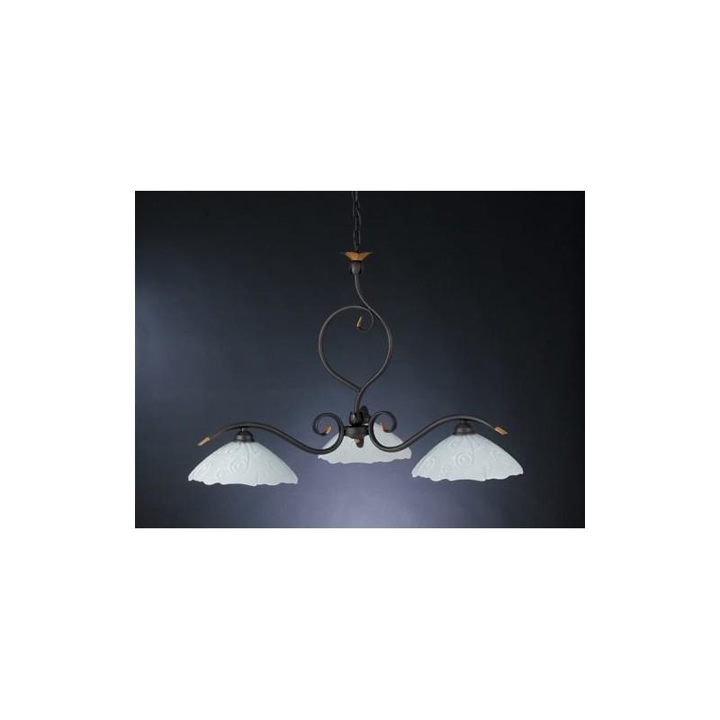 Lampadario in ferro battuto sospensione cucina sala pranzo for Luci cucina design