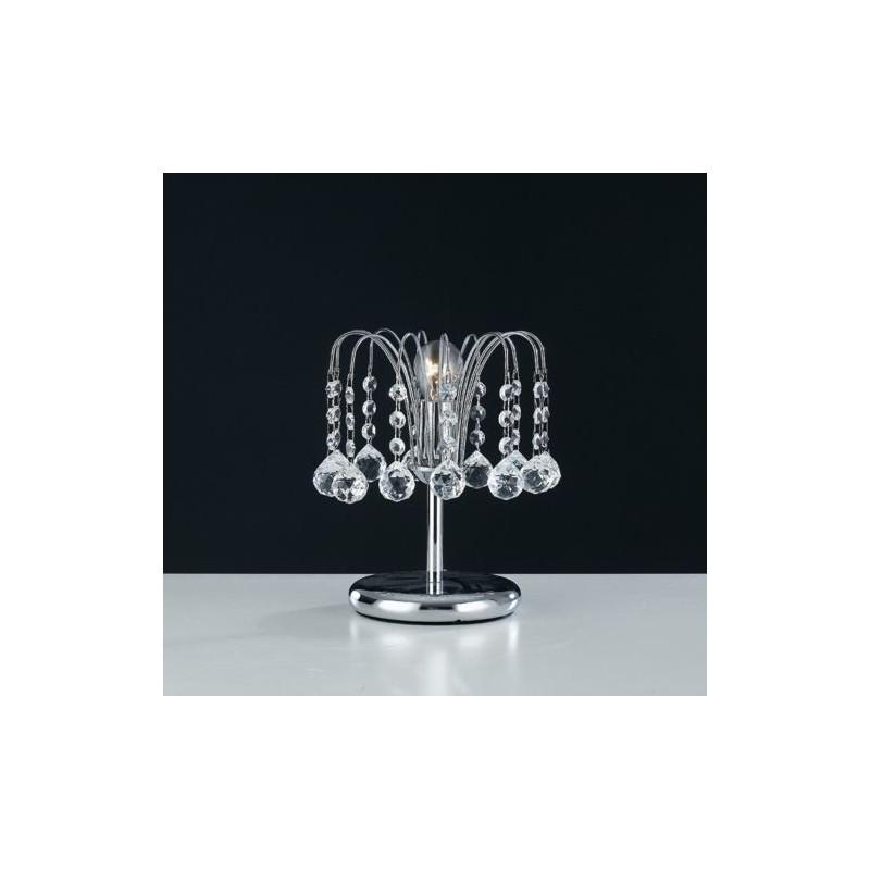 Abat jour lume comodino lumetto acciaio e swarovki design for Lumetti da comodino