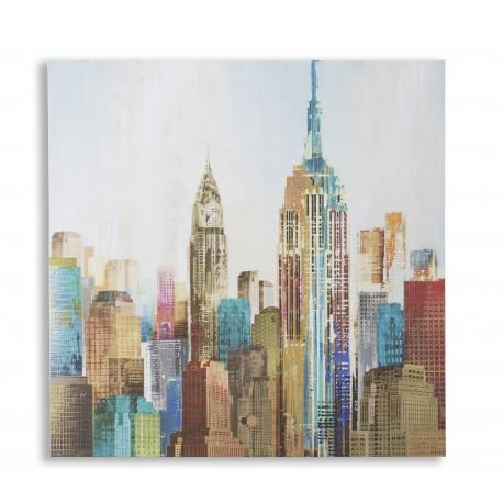 Pannello a muro new york olio su tela soggiorno salotto for Soggiorno new york