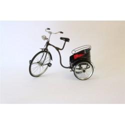 Bici con Carrello Trasportino Modellino da collezione in latta