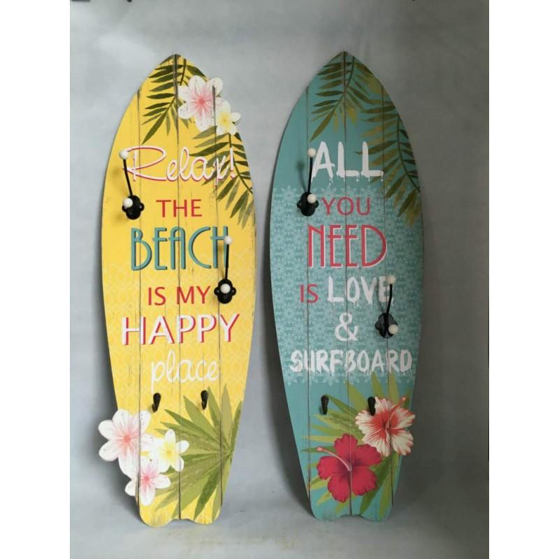 Attaccapanni a muro legno surf cameretta locali negozi for Attaccapanni vintage