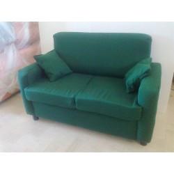 Divano 2 posti divanetto tessuto sofà in tessuto due posti poltrona relax