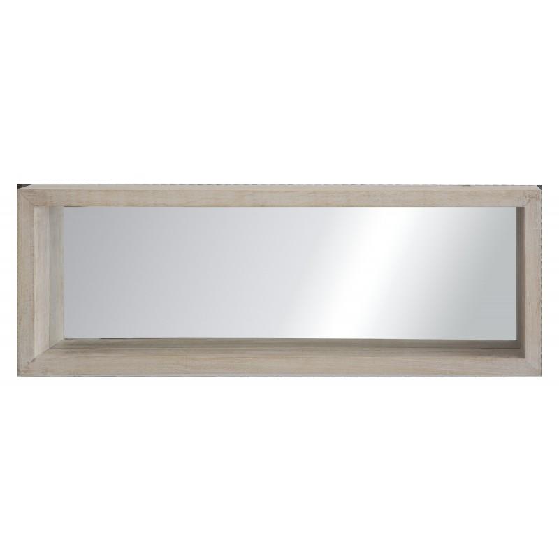 Specchio mensola a muro mensola a parete con fondo a - Parete a specchio ...