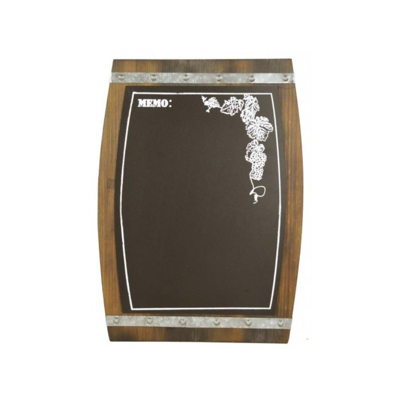 Lavagna botte a muro in legno decorata per cucina - Cucina per tavernetta ...